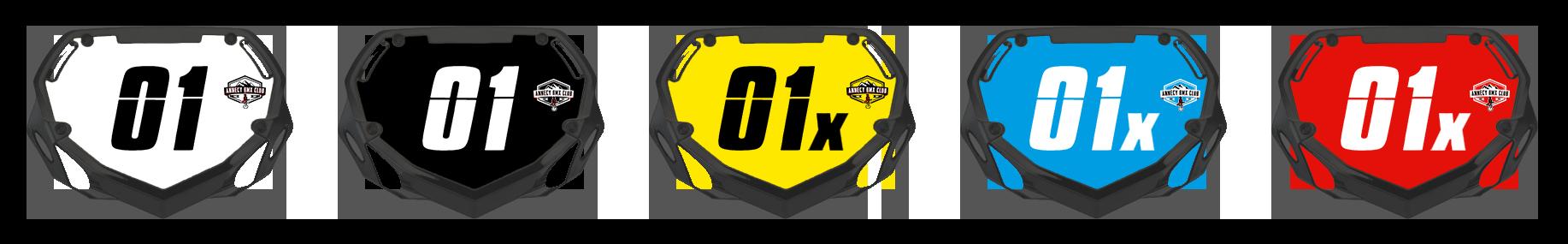 Plaques de BMX race